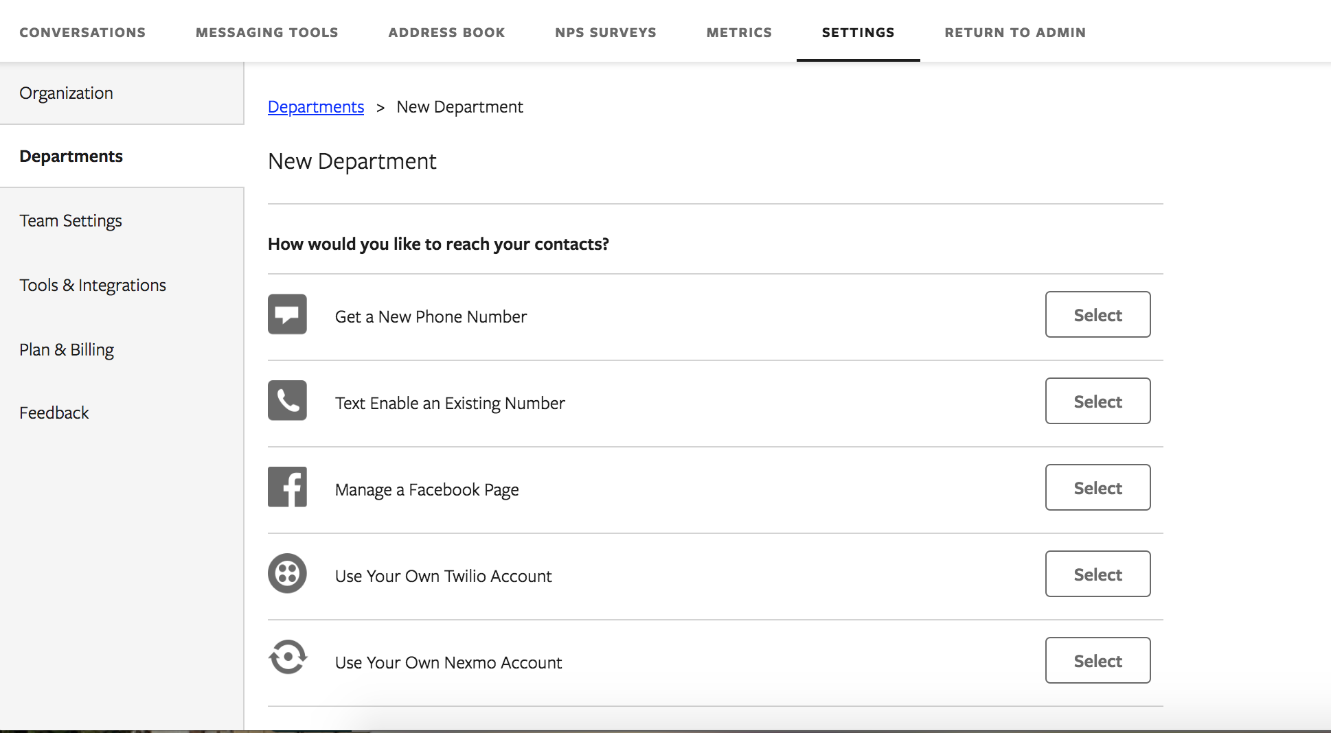 Departments: What they are & how to add them – Textline Help